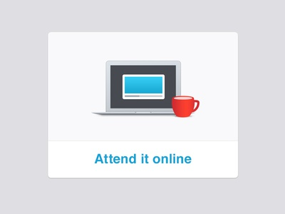 Webinar illustration xero laptop coffee cup webinar online illustration shadow