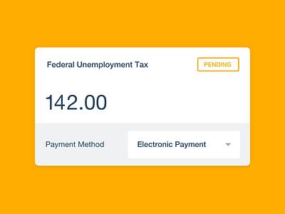 Xero features illustration card tax