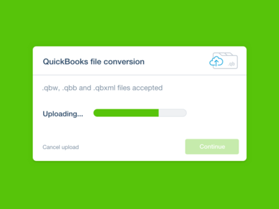 Quickbooks conversion illustration