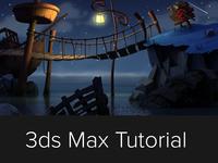 Tutorial: Create a Monkey Island like scene using 3ds Max & VRay 3ds max 3d studio max max vray tutorial freebies