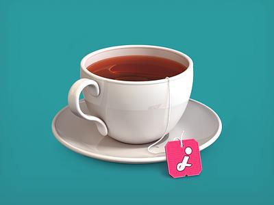 Tea Cup Icon icon icons tea cup cup tea pixels illustration