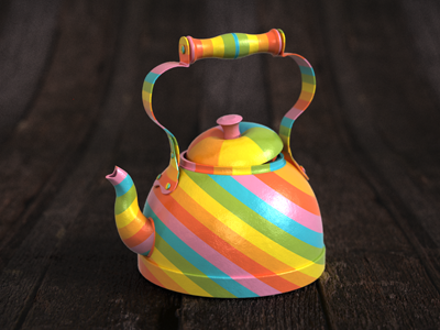 Rainbow Teapot Icon