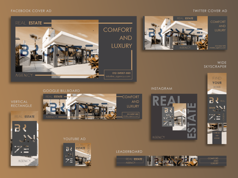 Real Estate Advertisement Template Design google adwords google facebook ads facebook banner twitter banner ad facebook ad social media banner ads advertising design instagram ads display ad digital advertising banner ads template branding design advertisement