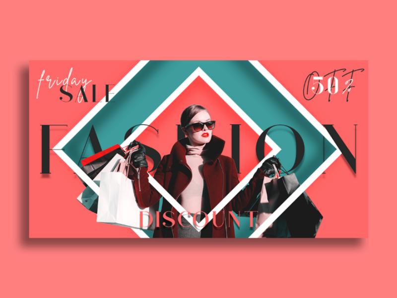 Facebook Ad feminine design graphic pixel fashion display ad social media e-commerce template marketing sales advertisement ad ads facebook