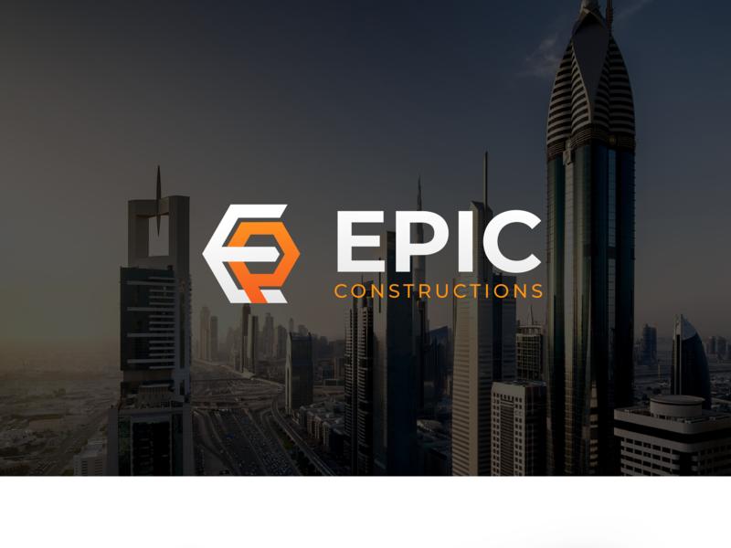 Construction Logo epic logo epic buildings construction paper construction logo e logo ep construction logo design logo