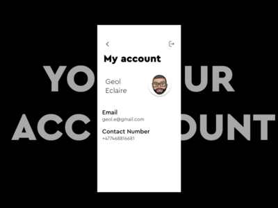 Account Page Minimalistic Design
