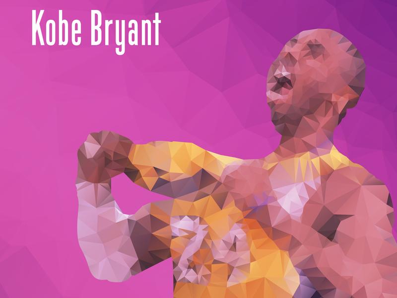 Kobe Bryant low poly kobe bryant 设计 插图
