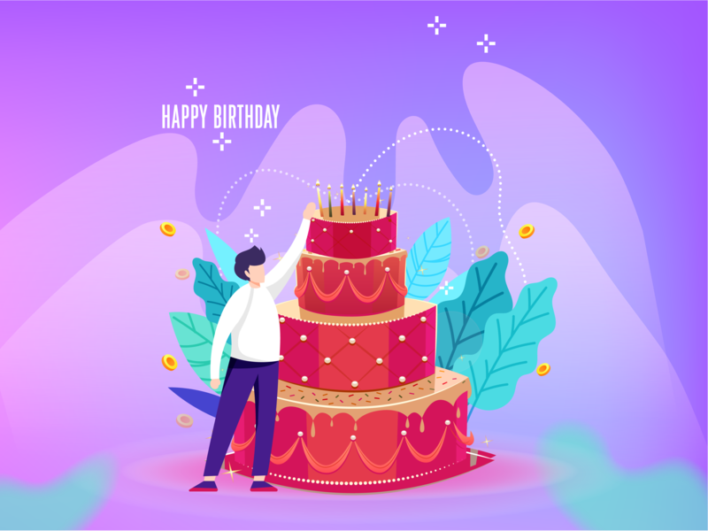 Happy Birthday 开心 快乐 birthday cake birthday 插图