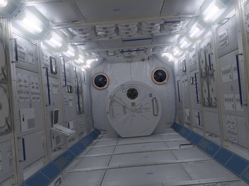 NASA ISS Spaceship Interior solar starship starwars spacex fluorescent lamp handle blue hatch international space station mars.earth moon space corridor astronaut interior spaceship