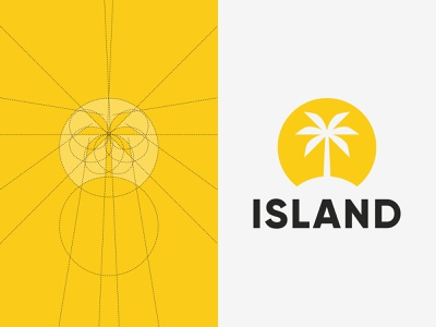 Island Records Grid Structure palm tree logo palm tree palm island label grid layout music grid structure grid logomark flat logotype branding graphic  design brand logo logodesign design
