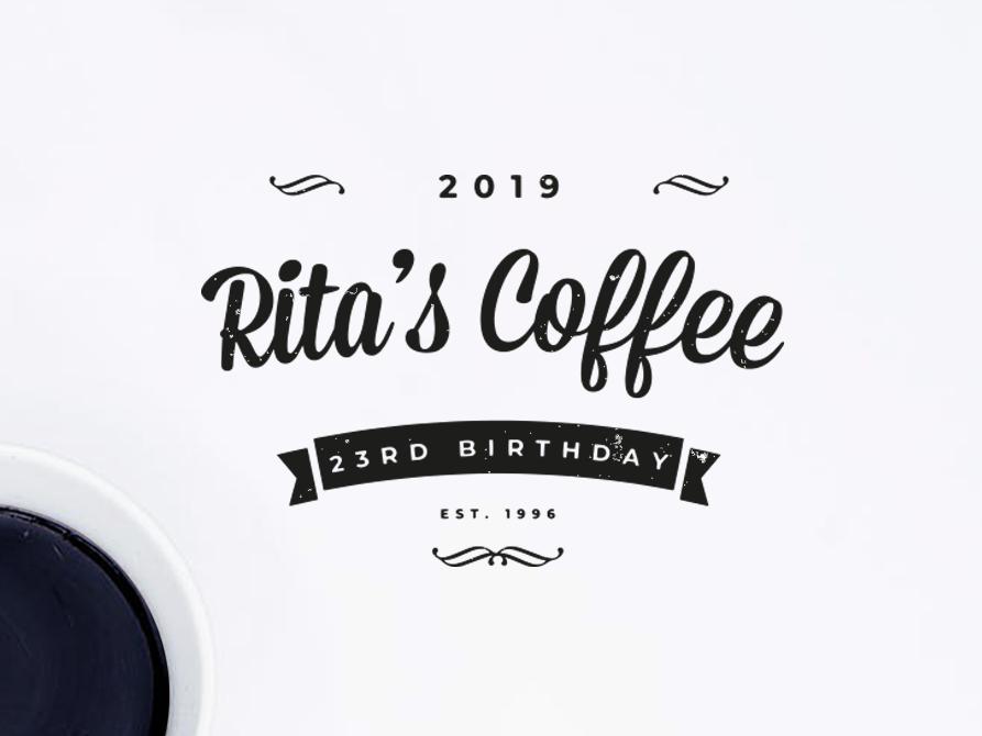 Rita's Coffee | Logo Design vintage logo vintage gift birthday coffee vector branding logodesign logo graphic  design design