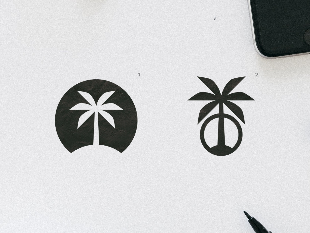 Palm Tree | Logo design sunset beach palm trees summer logo summer vibes summer palm tree minimalist flat vector logotype brand logodesign logo graphic  design design