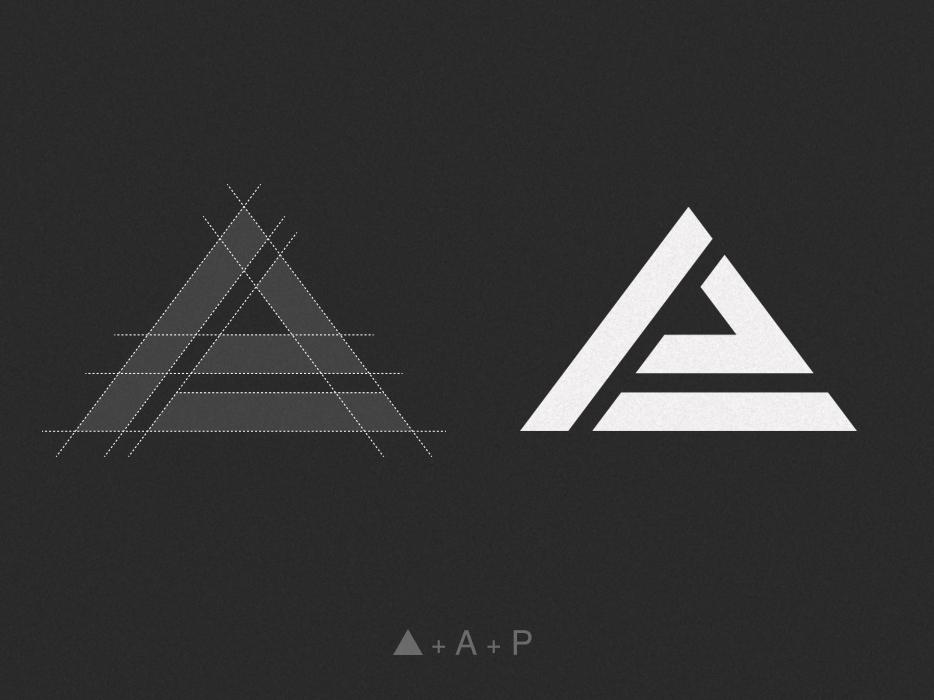 Arrojado Productions | Grid Structure photostudio photography logo design symbol logomark mark monogram logo monogram flat vector minimalist logotype brand logodesign logo graphic  design design