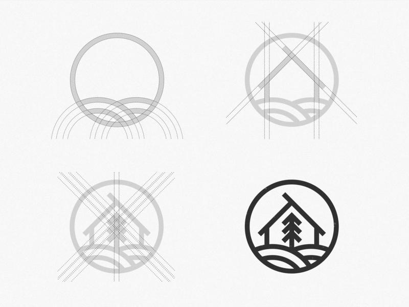 Palheiro Alto   Grid Structure cottage vintage logo house logo logo inspiration logo design symbol mark brand design grid structure grid logo grid minimalist brand logodesign logo graphic  design design