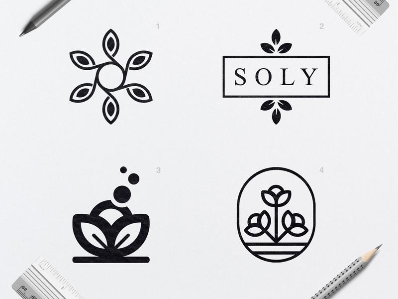 Soly | Logo Design branding design flower branch magnolia logo flower logo organic nature logo nature handmade cosmetic logo brand identity branddesign branding logotype brand logodesign logo graphic  design design