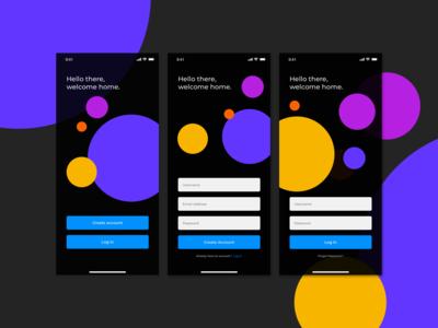 Sign Up Page Design - Dark Mode