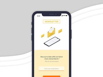 Newletter   Dayli Ui   jour 1 dayliui uidesign webdesign newsletter mobile ui mobile web design ui