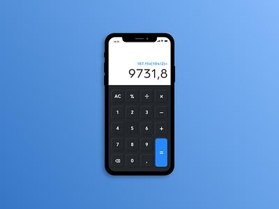 Dayli UI jour 4 calculator ui mobile webdesign uidesign mobile ui dayliui