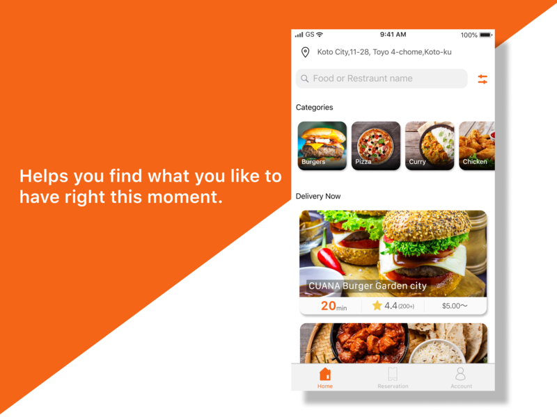 Food Delivery app japanese figma delivery app
