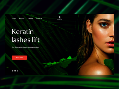Keratin lashes lift minimal creative design web ui design concept color