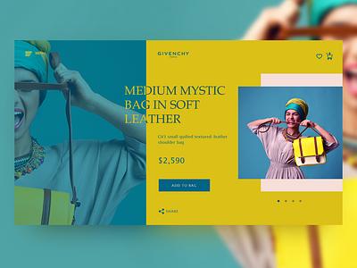 Givenchy Bag web page concept color creative design concept flat minimal website ux web ui design