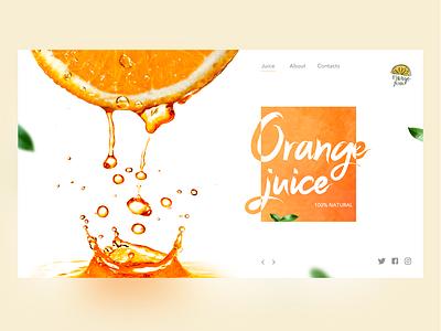 Juice 2 website creative design juicy juce color web ui design concept