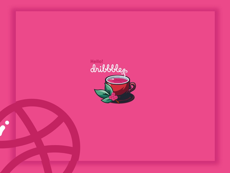 Hello Dribbble creative illustration debuts coffee simple logo design first shot logo simple logo hello dribbble