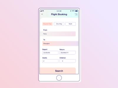 DailyUI068 - flight search
