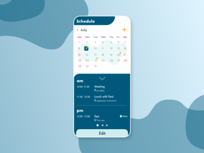DailyUI  #071 schedule