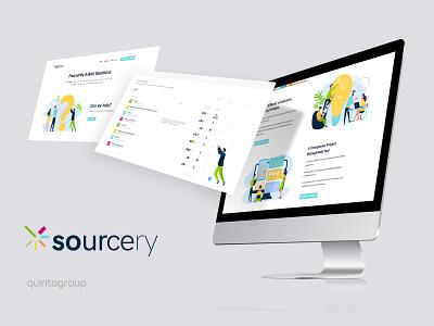 Sourcery projects & illustrations lighting platform graphic design uiux ux illustration design ui
