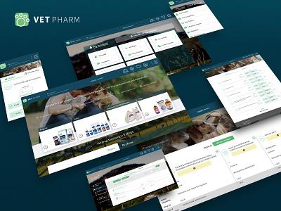 Vet Pharm Case pharmacy e-commerce django webdevelopment website web illustration design