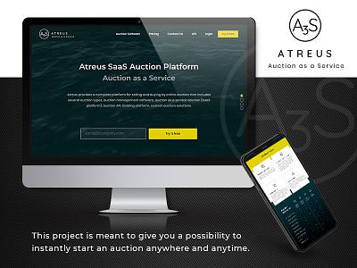 Atreus dutch auction reverse auction auction open source javascript saas e-auction artificial intelligence machine learning blockchain django aws python branding design ux  ui web  design website design