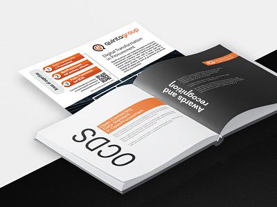 Quintagroup brochures typography branding vector design illustration brochures