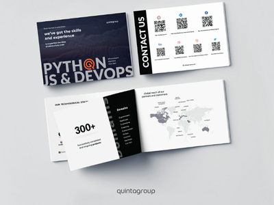 New brochure of Quintagroup illustration design brochures branding
