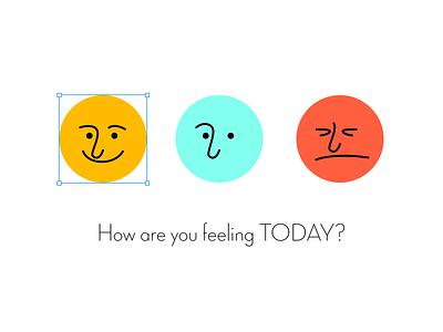 Mood choice emoji color feeling mood icon design illustration