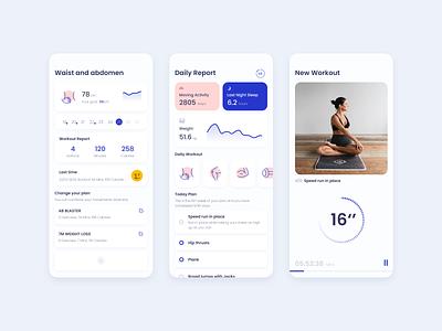 Women Workout exercise workout ui app icon design