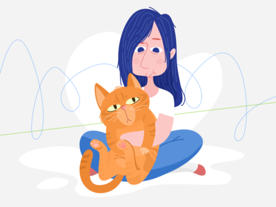 My cat with me
