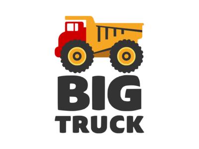 Bigtruck.io logo branding toy truck logo truck