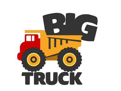 Bigtruck.io logo - Stacked branding toy truck logo truck