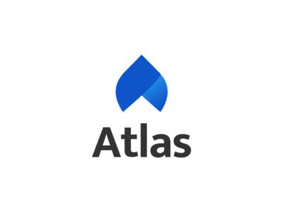 Atlas Logo branding software glyph symbol logo atlas