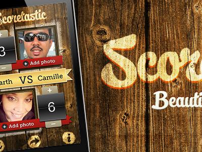 Scoretastic - homepage banner iphone app website branding banner