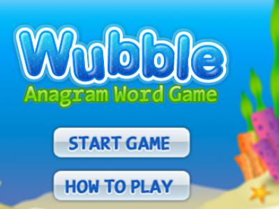 Wubble - Start Screen flash game game screen ui
