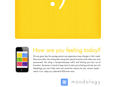 Moodology Happy Ad print happy advertisement iphone app