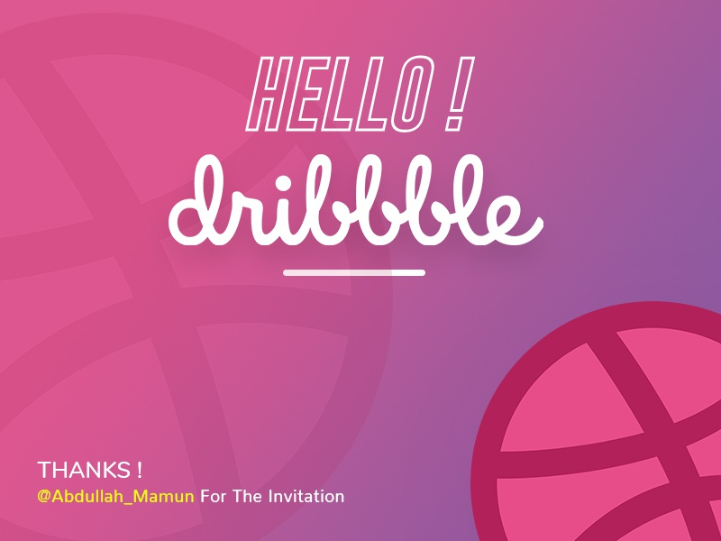 Welcome Short invite dribbble  first shot dribbble debut
