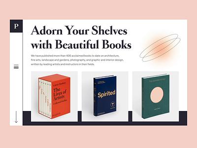 Book Store Website Design motion design interaction typography bookstore web design flat minimal design clean web animation ux ui