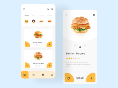 Food Mobile App Design app designer ui designer online shop e-commerce ui design app design foodie app 2020 mobile app food shop food