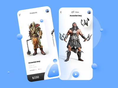 3D model characters app ui ux interface 2020 character app mobile app design character design 3d shop 3d art