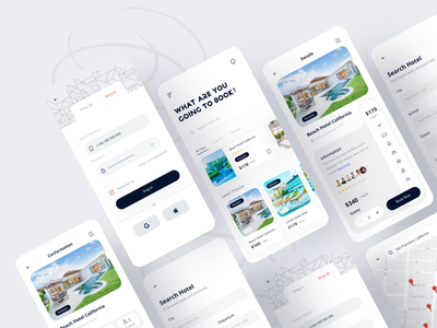 Hotel Booking app product resort booking app hotel booking design ui app designer app design ui design interface mobile app