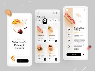 Food Delivery App shop fast food ecommerce design minimal app design app designer mobile app interface ui design