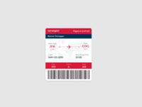 Daily UI Challenge #024 - Boarding Pass